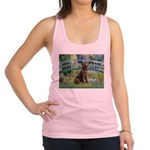 Bridge / Labrador (Choc) Racerback Tank Top
