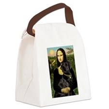 Mona's Black Lab Canvas Lunch Bag