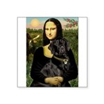 Mona's Black Lab Square Sticker 3