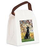 Spring & Black Lab Canvas Lunch Bag