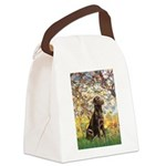 Spring / Choc Lab 11 Canvas Lunch Bag