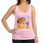 Sunflowers-Yellow Lab 7 Racerback Tank Top