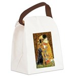 The Kiss & Black Lab Canvas Lunch Bag