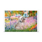 Garden / Lhasa Apso Rectangle Car Magnet