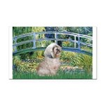 Bridge / Lhasa Apso Rectangle Car Magnet