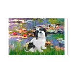 Lilies / Lhasa Apso #2 Rectangle Car Magnet