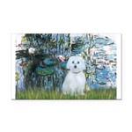 Lilies #1 - Maltese (B) Rectangle Car Magnet