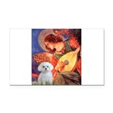 Mandolin Angel & Maltese Rectangle Car Magnet