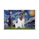 Starry Night / Landseer Rectangle Car Magnet
