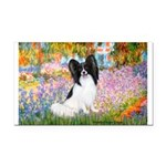 Garden & Papillon Rectangle Car Magnet
