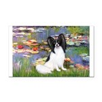Lilies (2) & Papillon Rectangle Car Magnet