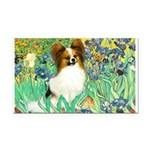 Irises / Papillon Rectangle Car Magnet