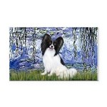Lilies (#6) & Papillon Rectangle Car Magnet