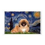 Starry / Pekingese(r&w) Rectangle Car Magnet