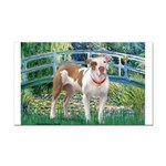 Bridge / Pitbull Rectangle Car Magnet