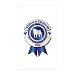 Starry/3 Pomeranians 5x7 Flat Cards