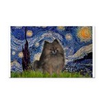 Starry Night /Pomeranian(bndl ) Rectangle Car Magn