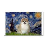 Starry / Pomeranian Rectangle Car Magnet
