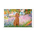 Garden/Std Poodle (apricot) Rectangle Car Magnet