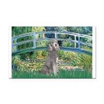 Bridge/Std Poodle silver) Rectangle Car Magnet