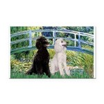 Bridge / Std Poodle (pr) Rectangle Car Magnet