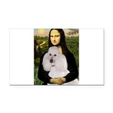 Mona / Std Poodle(w) Rectangle Car Magnet