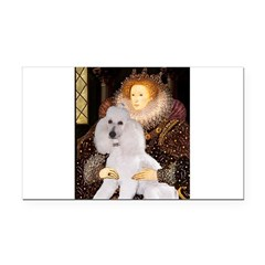 Queen / Std Poodle(w) Rectangle Car Magnet