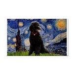 Starry / Std Poodle(bl) Rectangle Car Magnet