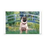 Bridge / Pug Rectangle Car Magnet