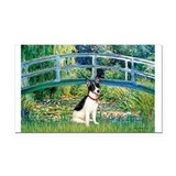 Bridge / Rat Terrier Rectangle Car Magnet
