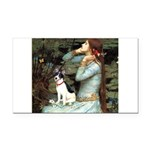Ophelia / Rat Terrier Rectangle Car Magnet