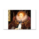 Queen / Rat Terrier Rectangle Car Magnet