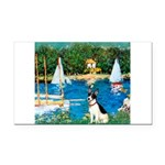 Sailboats / Rat Terrier Rectangle Car Magnet