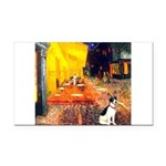 Cafe / Rat Terrier Rectangle Car Magnet