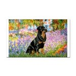 Garden / Rottweiler Rectangle Car Magnet