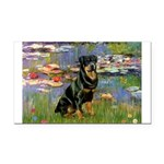 Lilies2/Rottweiler Rectangle Car Magnet