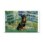 Bridge / Rottie Rectangle Car Magnet