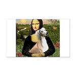 Mona Lisa (new) & Saluki Rectangle Car Magnet