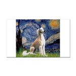 Starry Night / Saluki Rectangle Car Magnet