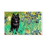 Irises / Schipperke #2 Rectangle Car Magnet