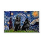 Starry / Schipperke Pair Rectangle Car Magnet