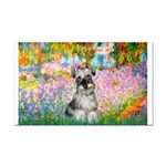 Garden / Miniature Schnauzer Rectangle Car Magnet