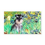 Irises / Miniature Schnauzer Rectangle Car Magnet