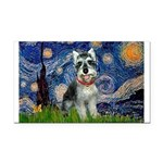 Starry Night /Schnauzer(#8) Rectangle Car Magnet