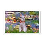 Lilies / M Schnauzer Rectangle Car Magnet