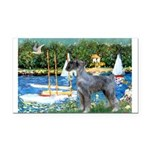 PS G. Schnauzer & Sailboats Rectangle Car Magnet