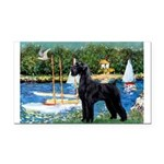 SCHNAUZER & SAILBOATS Rectangle Car Magnet