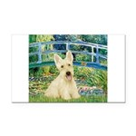 Bridge / Scottie (w) Rectangle Car Magnet