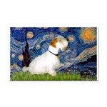 Starry Night/Sealyham L1 Rectangle Car Magnet