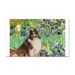 Irises / Sheltie Rectangle Car Magnet
